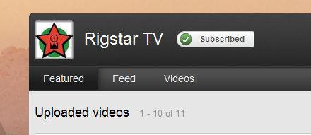 RigstarTV's YouTube Channel